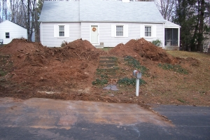 re grading a front yard country landscaping llc