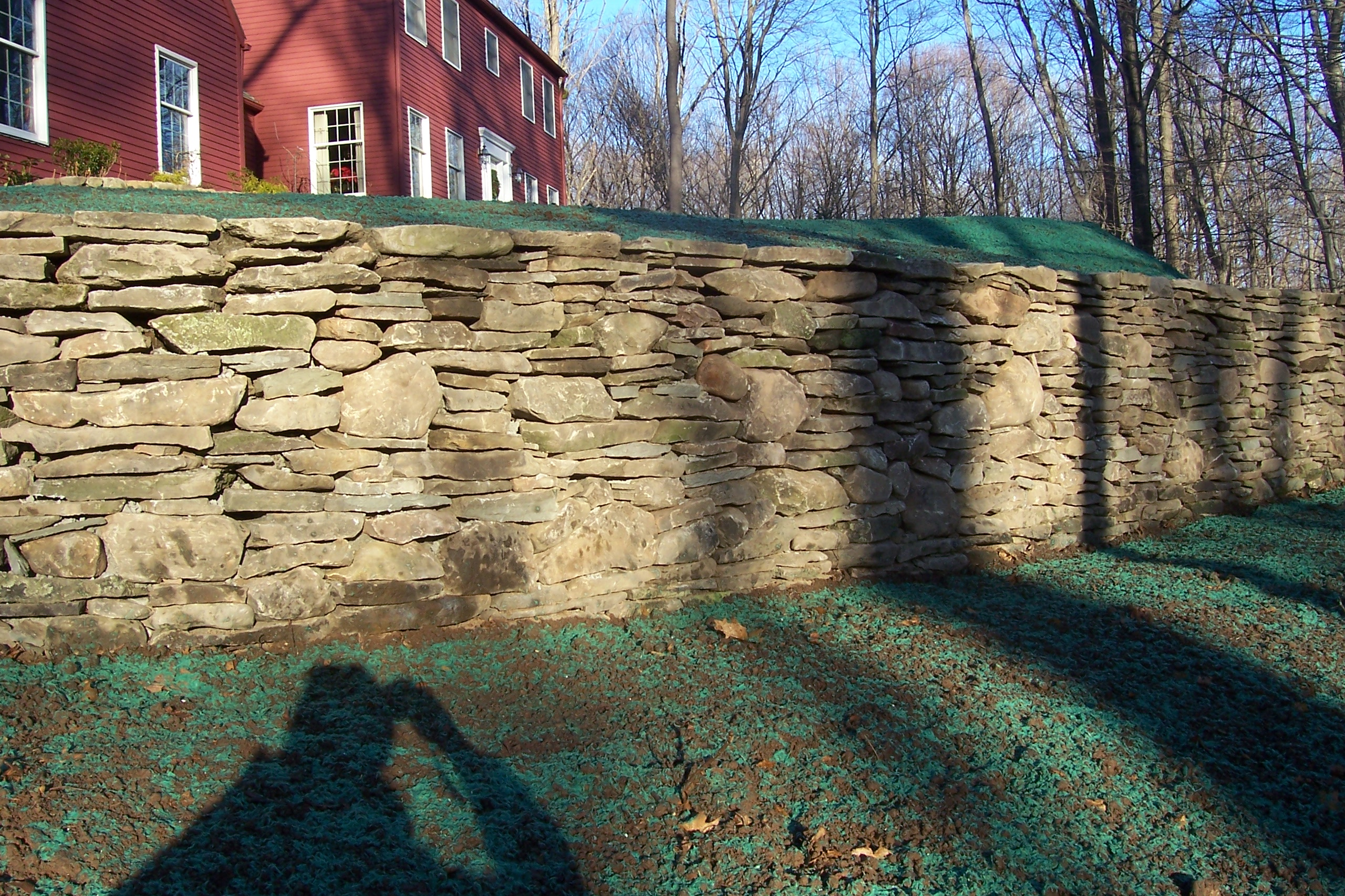 New England Fieldstone : New england fieldstone retaining wall country